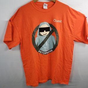 #STOPHANK QUEST T-shirt 100% Cotton Size XL